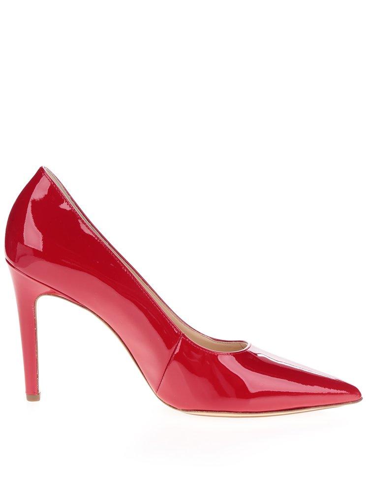 Pantofi rosii din piele lacuita Högl