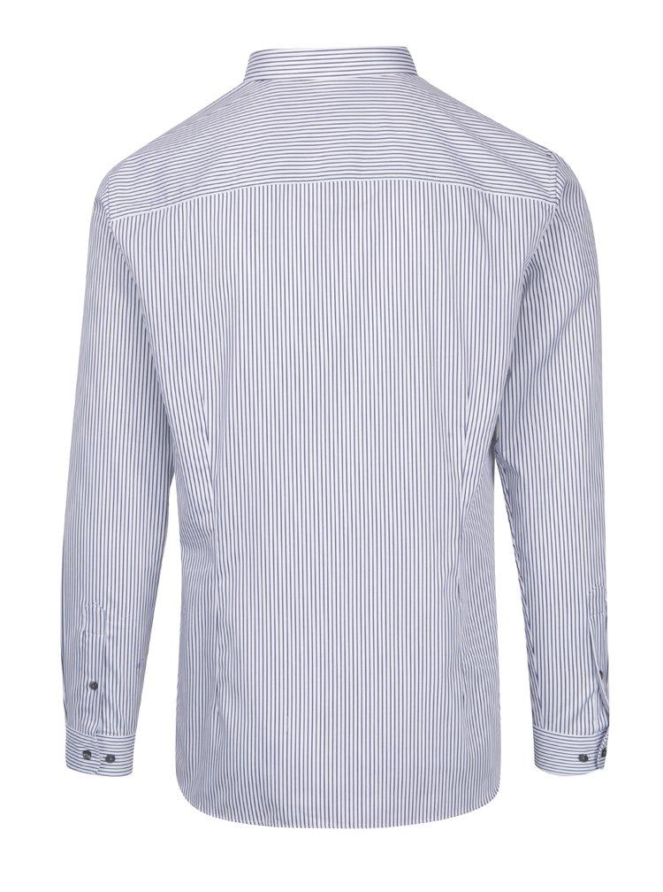 Bílá pruhovaná super slim fit košile Jack & Jones Premium Parma