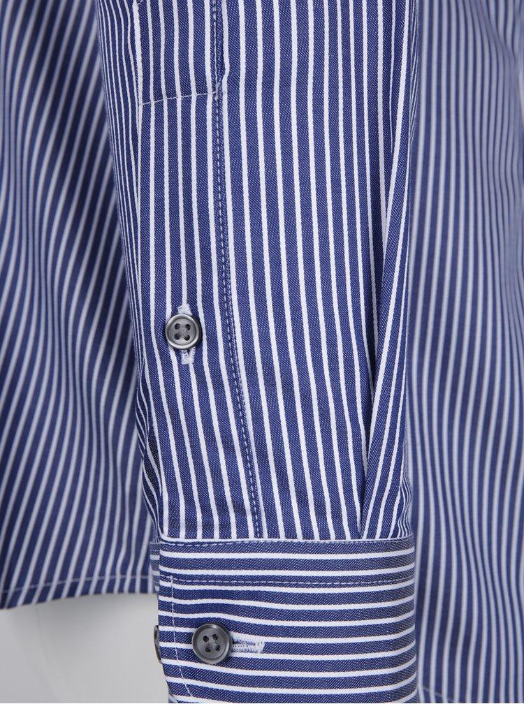 Tmavě modrá formální pruhovaná super slim fit košile Jack & Jones Premium Parma