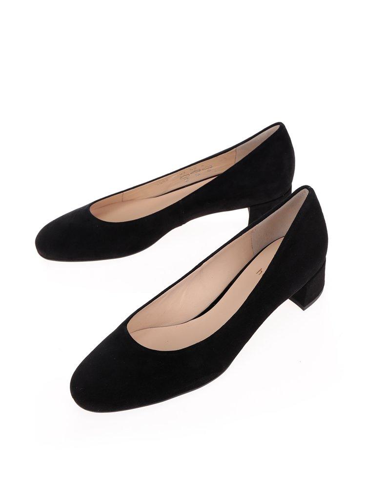 Pantofi negri din piele Högl toc gros