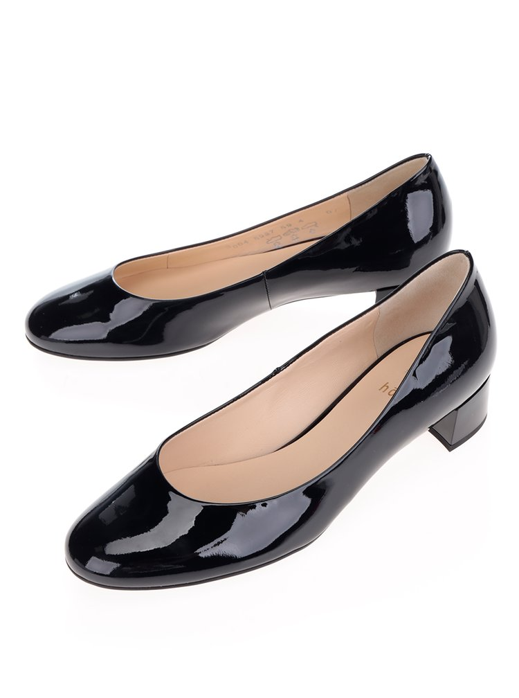 Pantofi bleumarin din piele lacuita  Högl