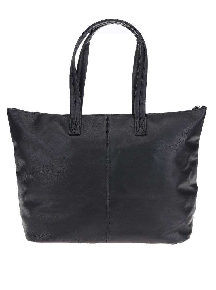 Černý shopper Pieces Korinna