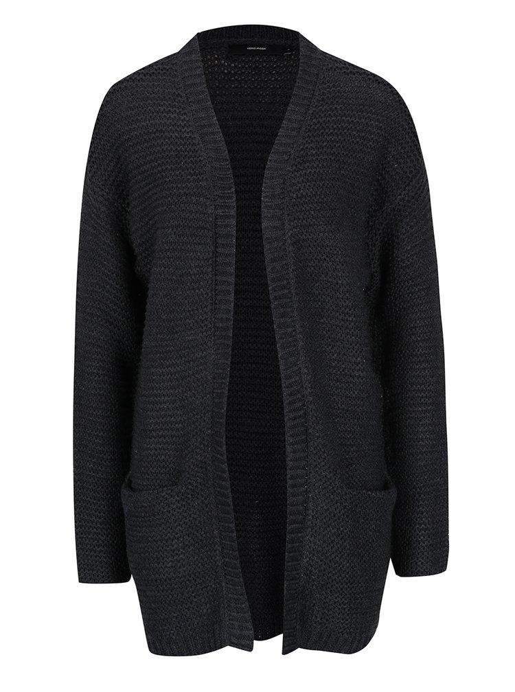 Tmavě šedý cardigan s kapsami VERO MODA