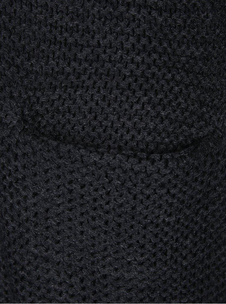 Tmavě šedý kardigan s kapsami VERO MODA