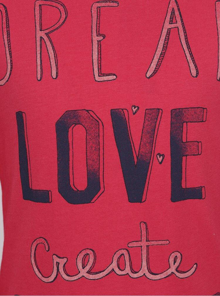 Růžové holčičí tričko s dlouhým rukávem Name it Veenibi