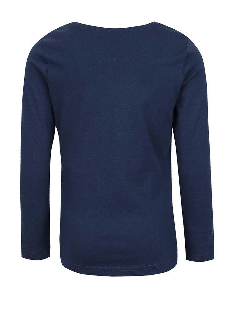 Modré holčičí tričko s dlouhým rukávem Name it Veenibi