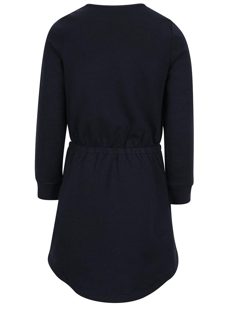 Tmavě modré holčičí mikinové šaty Name it Volta