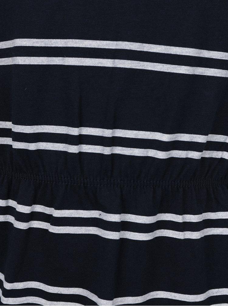 Modré pruhované holčičí šaty Name it Velvet