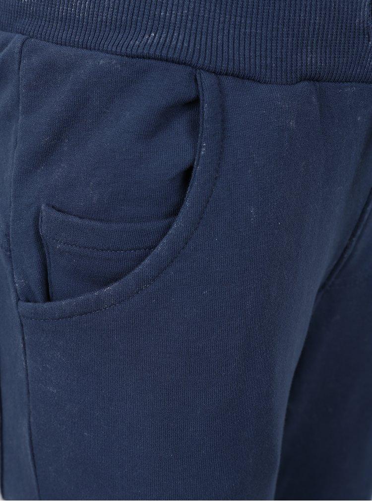 Tmavě modré klučičí tepláky s kapsami Name it David
