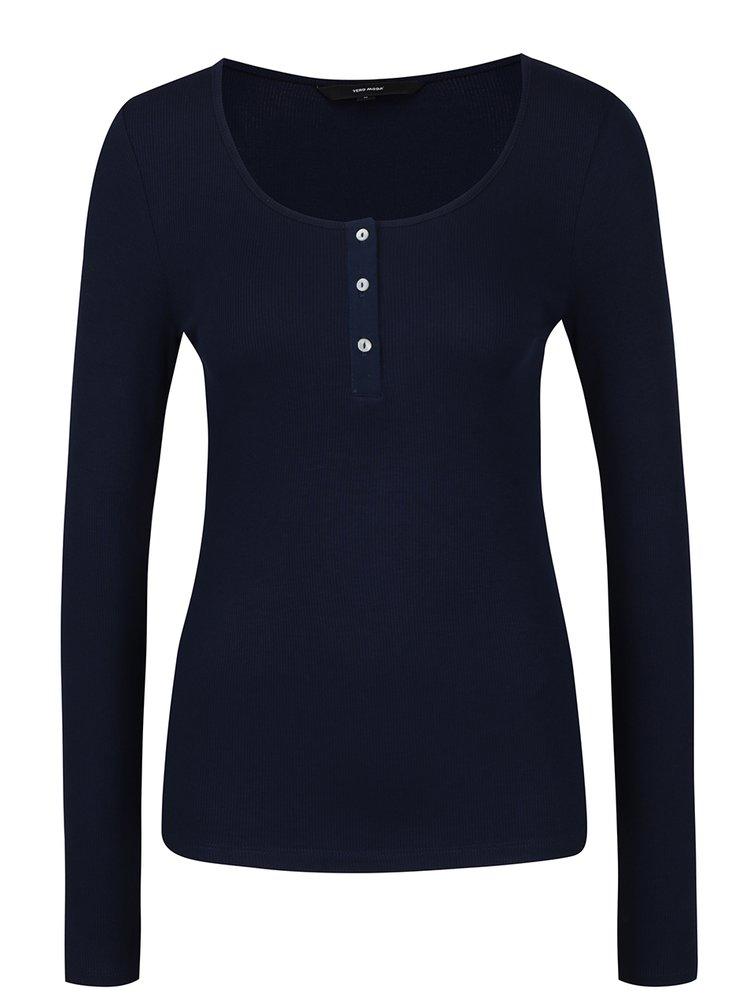 Bluza bleumarin cu nasturi VERO MODA Gaby