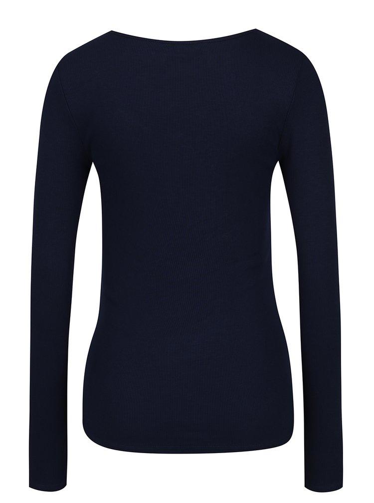 Tmavě modré tričko s knoflíčky VERO MODA Gaby