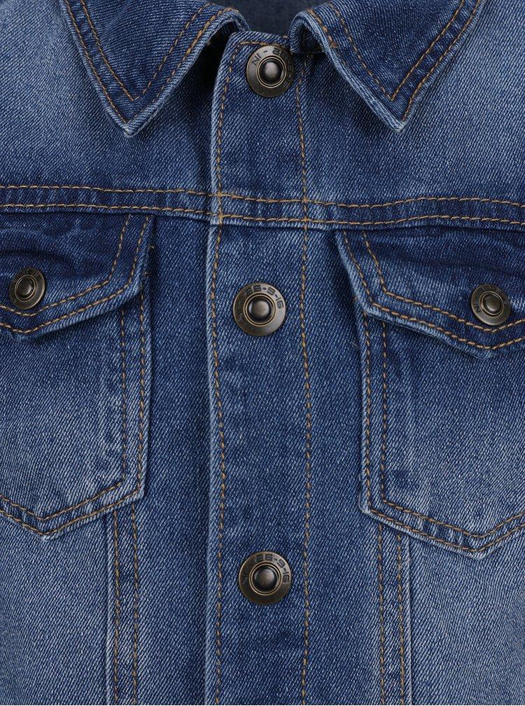 Tmavě modrá klučičí džínová bunda Name it Boom