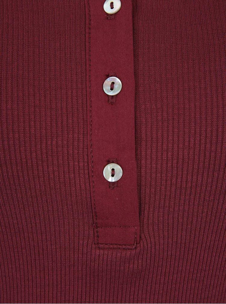Vínové tričko s gombičkami VERO MODA Gaby