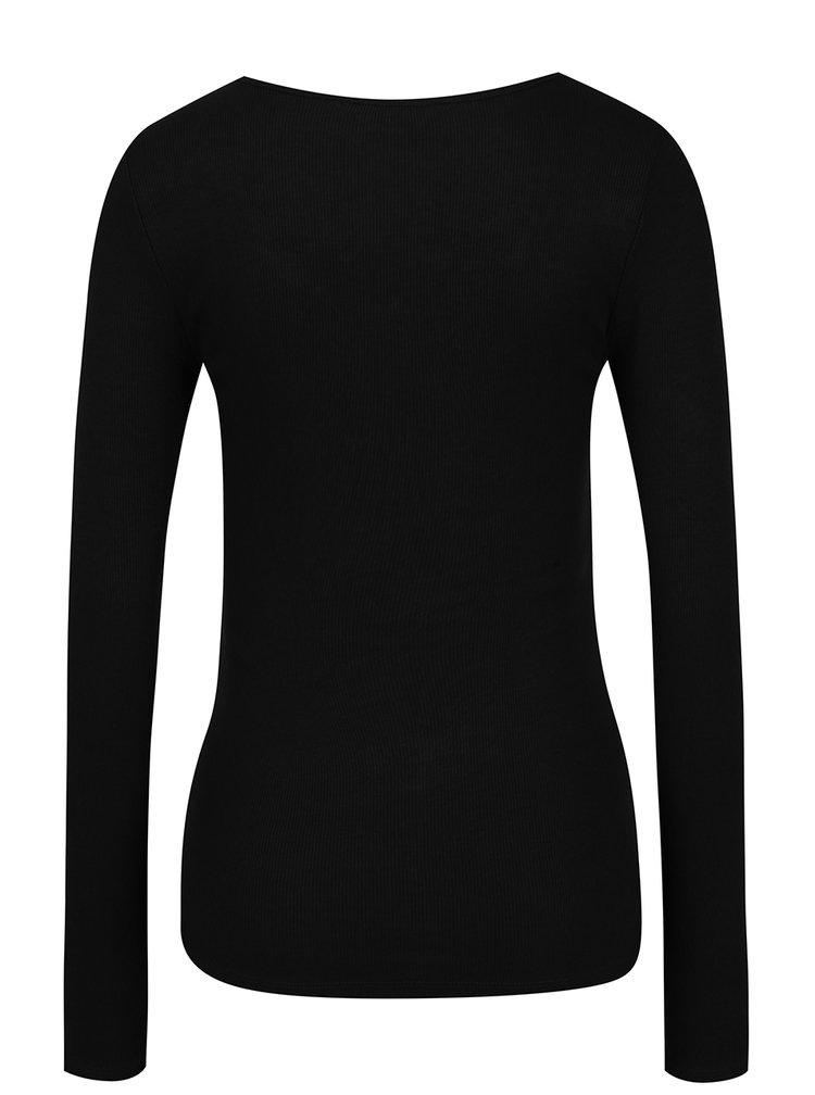 Bluză neagră cu nasturi VERO MODA Gaby