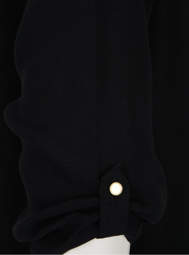 Bluza neagra cu maneci 3/4 VERO MODA Buci
