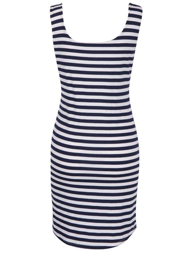 Tmavě modré pruhované šaty ZOOT
