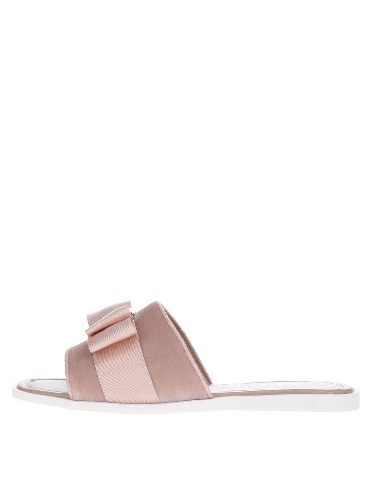 Růžové pantofle s mašlí Miss KG Ribbon