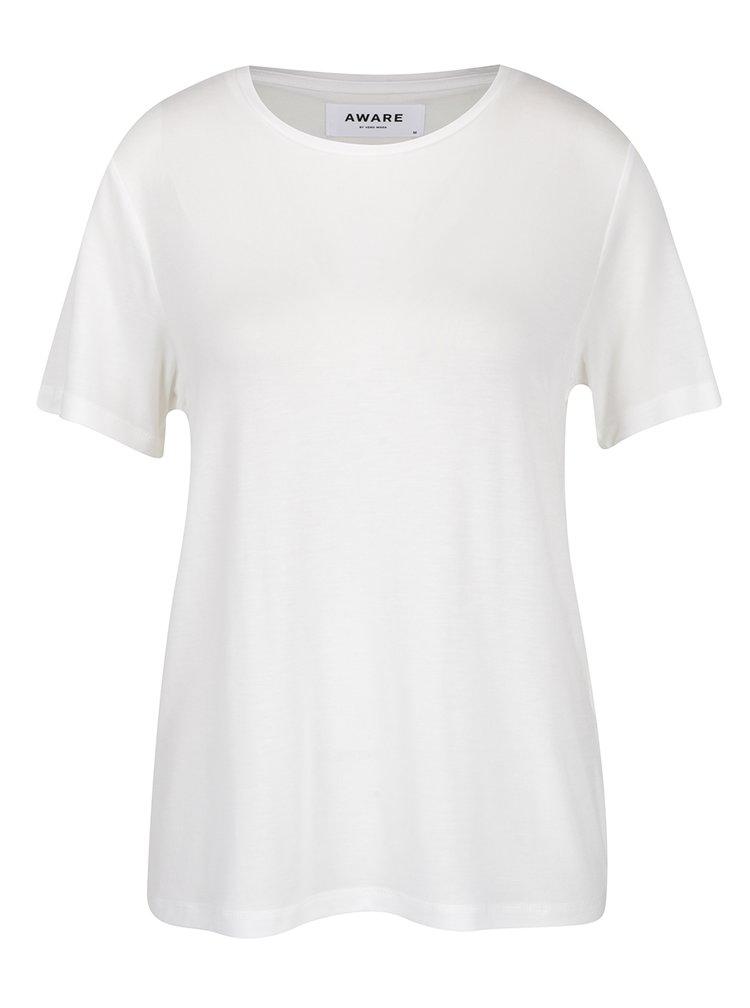 Krémové basic tričko VERO MODA Ava