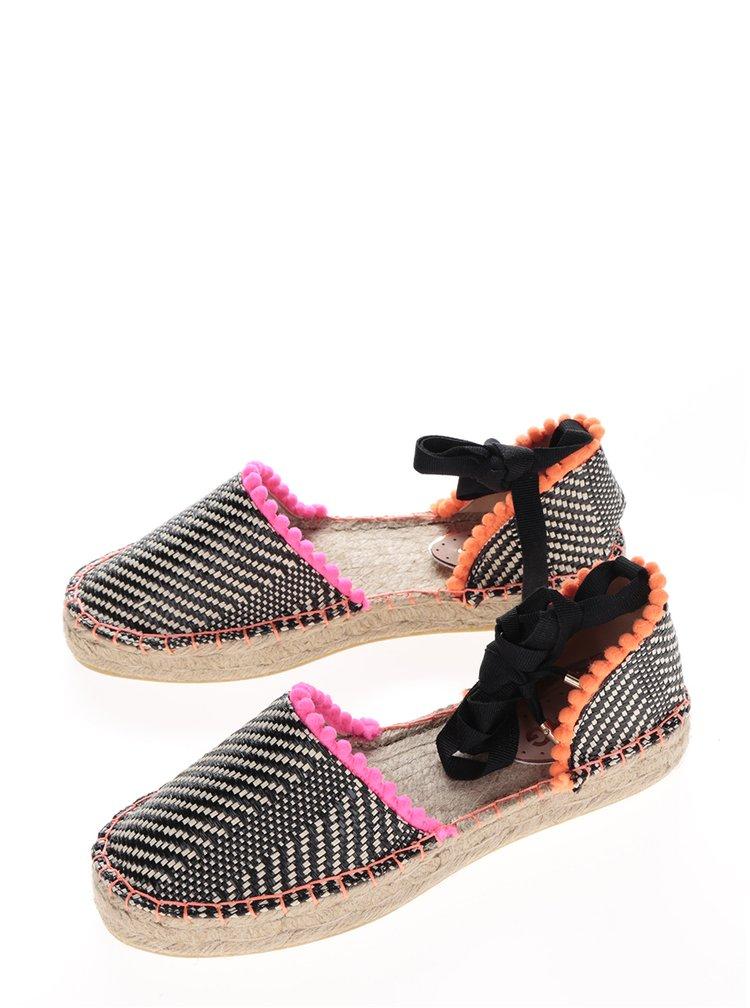 Béžovo-černé vzorované espadrilky s barevnými detaily Miss KG Dizzy