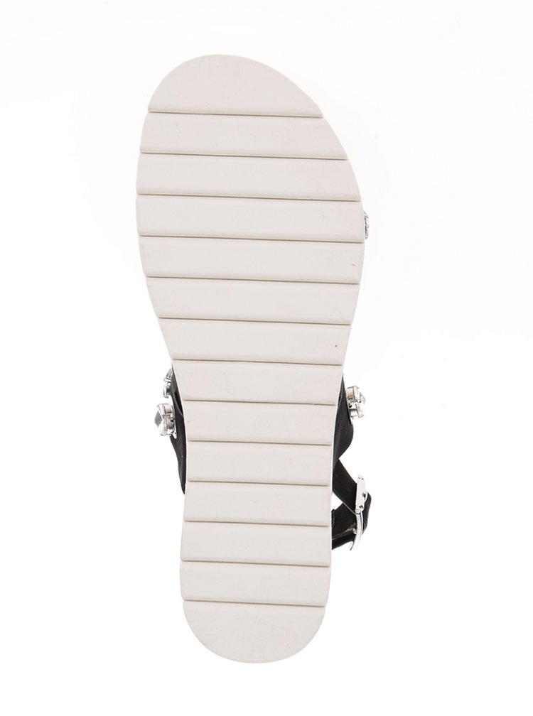 Sandale negre cu platformă și ștrasuri Miss KG Rita
