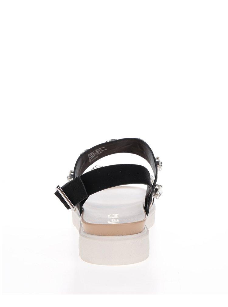 Sandale negre cu platforma si strasuri Miss KG Rita