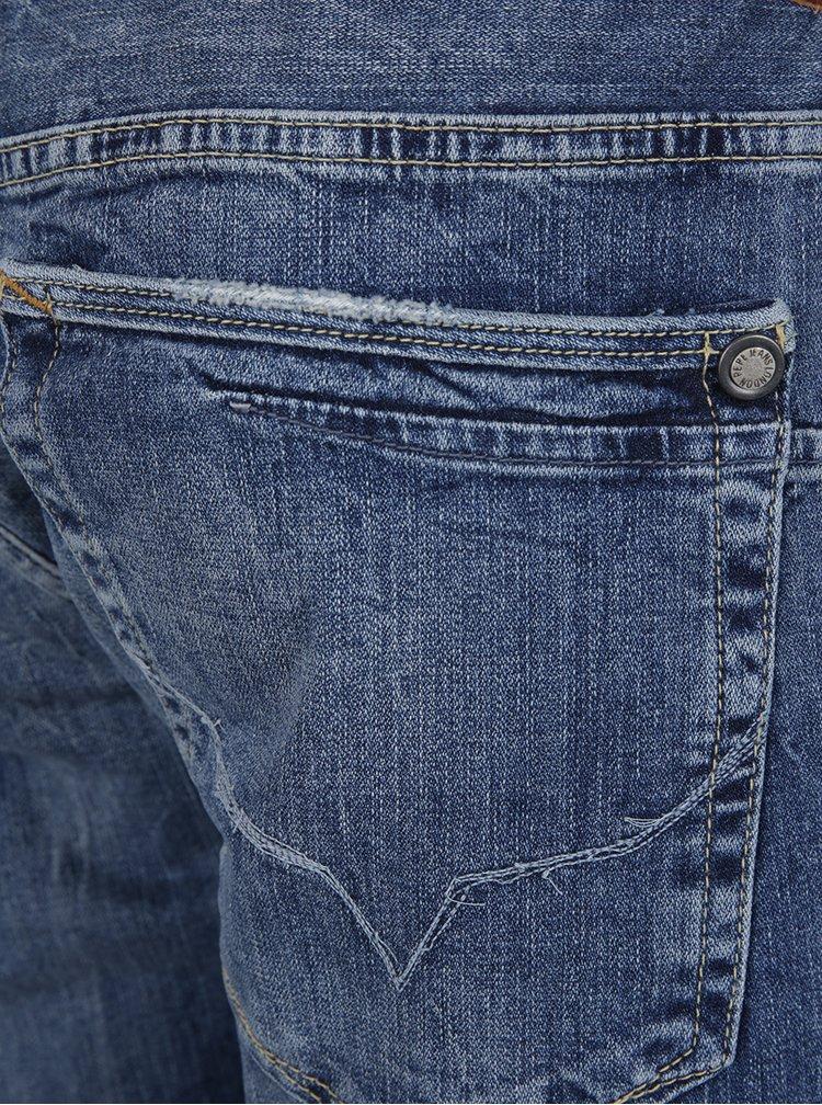 Blugi albastri Pepe Jeans Zinc aspect prespalat