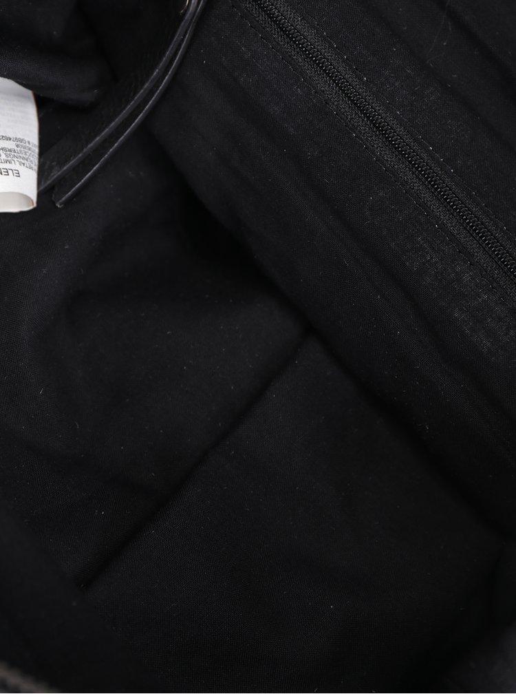Rucsac negru din piele Superdry
