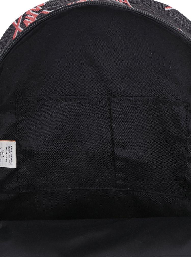 Tmavě šedý vzorovaný batoh Superdry Montana 17 l