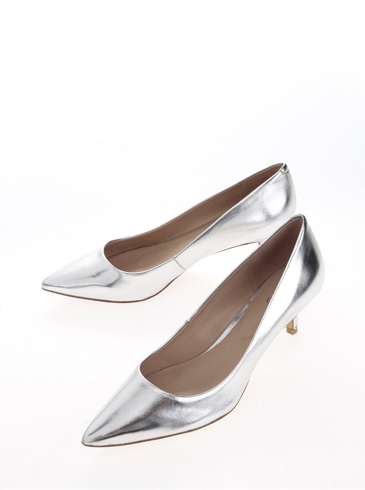 Lodičky ve stříbrné barvě na podpatku ALDO Sieria