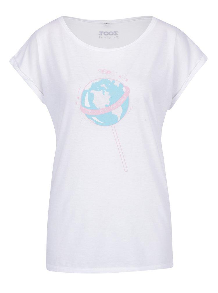Bílé dámské tričko ZOOT Originál  Lízátko