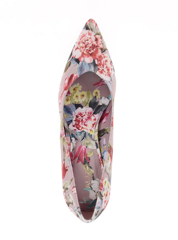 Starorůžové dámské  květované lodičky ALDO Aleani