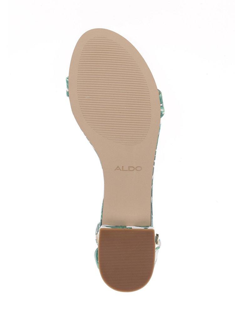Sandale alb & verde Aldo Angilia toc mic