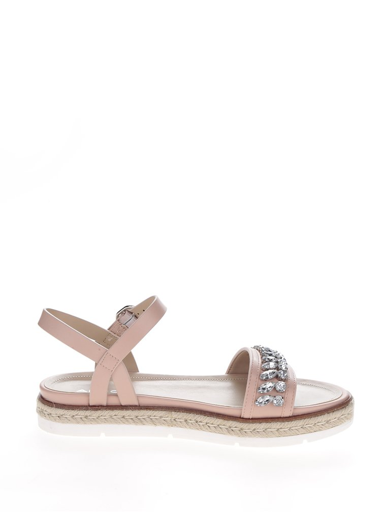 Světle růžové sandály s ozdobnými kamínky ALDO Kelvyna