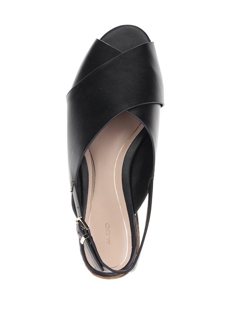 Sandale negre cu barete suprapuse ALDO Bezio