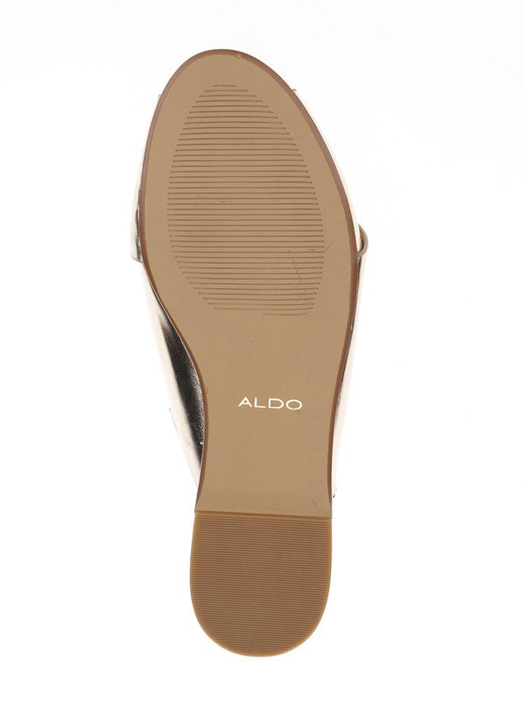 Sandale aurii cu barete suprapuse  ALDO Bezio U