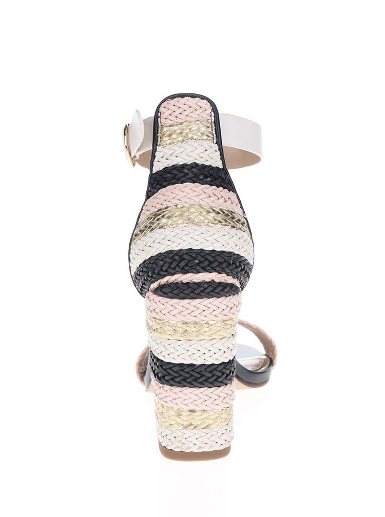 Krémovo-růžové sandálky na vysokém podpatku Miss KG Ebony