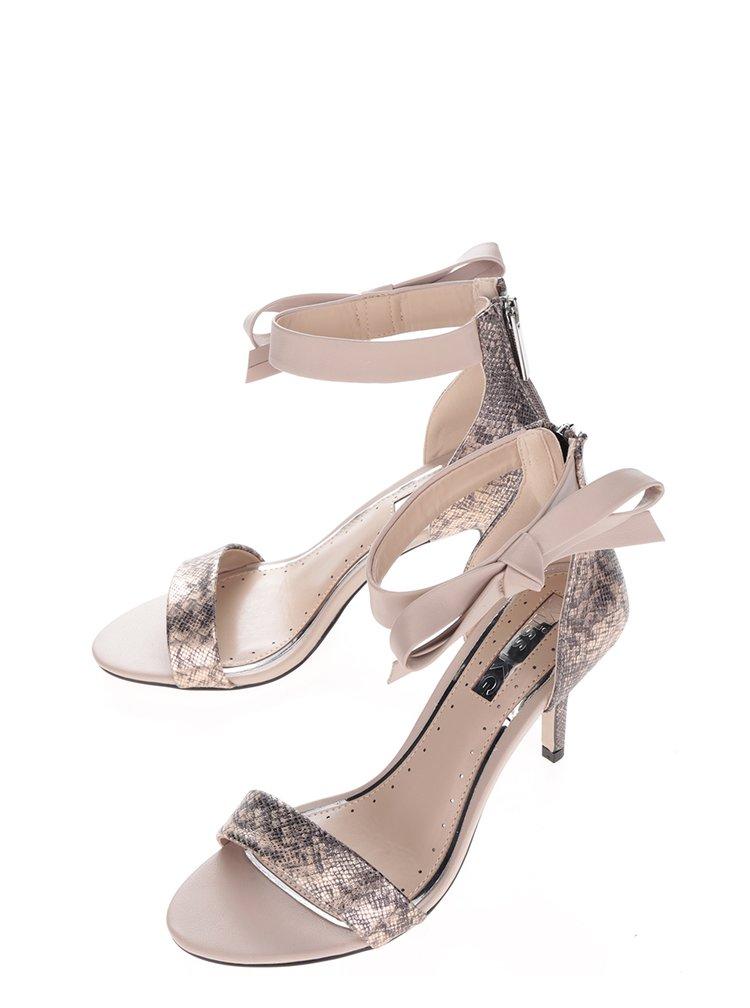 Sandale aurii cu toc stiletto Miss KG Gabby