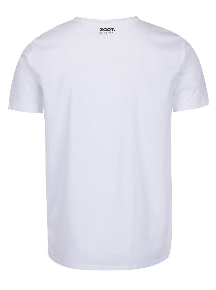 Bílé pánské tričko ZOOT Originál Hello beaches