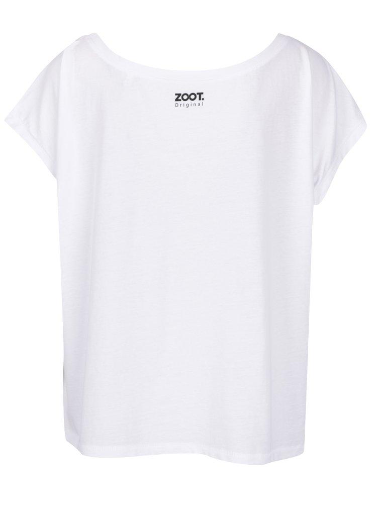 Tricou alb cu mesaj ZOOT din bumbac organic