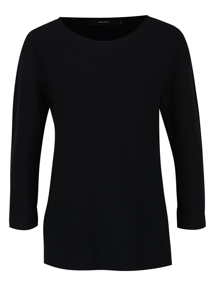 Černý žebrovaný svetr VERO MODA Anna