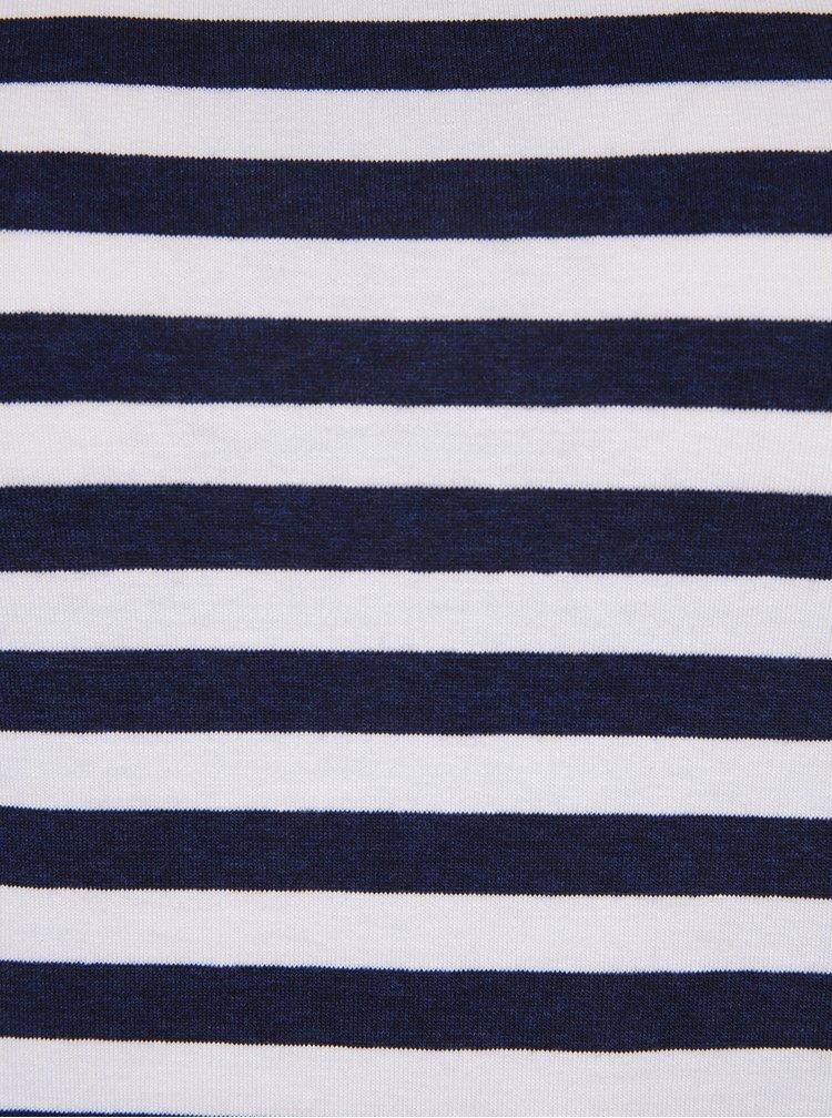 Krémovo-modré pruhované tričko s lodičkovým výstřihem ZOOT