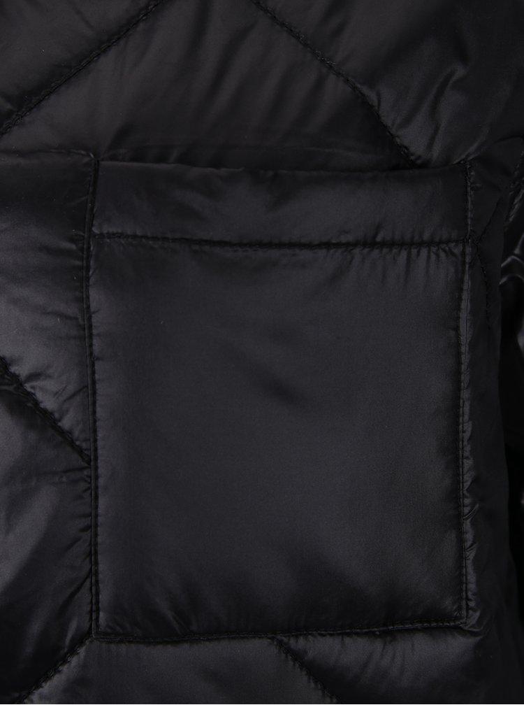 Černá prošívaná bunda s kapsou Noisy May Puffy