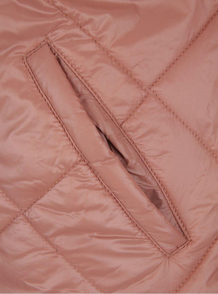 Geacă matlasată roz prăfuit Noisy May Puffy