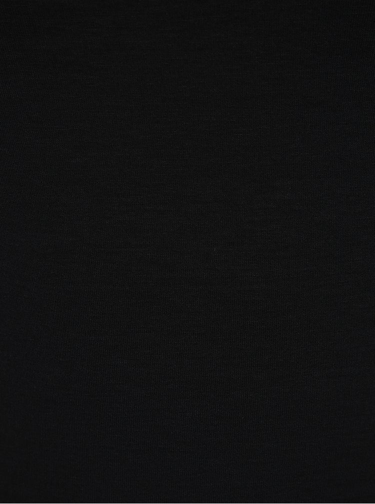 Bluză neagră cu decolteu bărcuță ZOOT