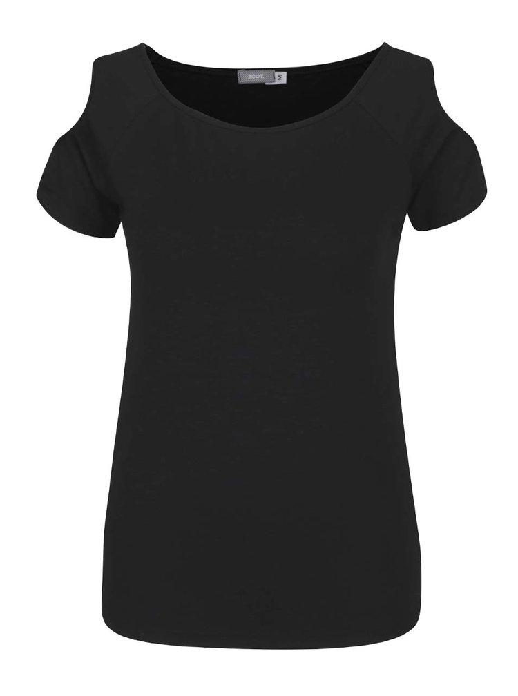 Černé tričko s průstřihy na ramenou ZOOT