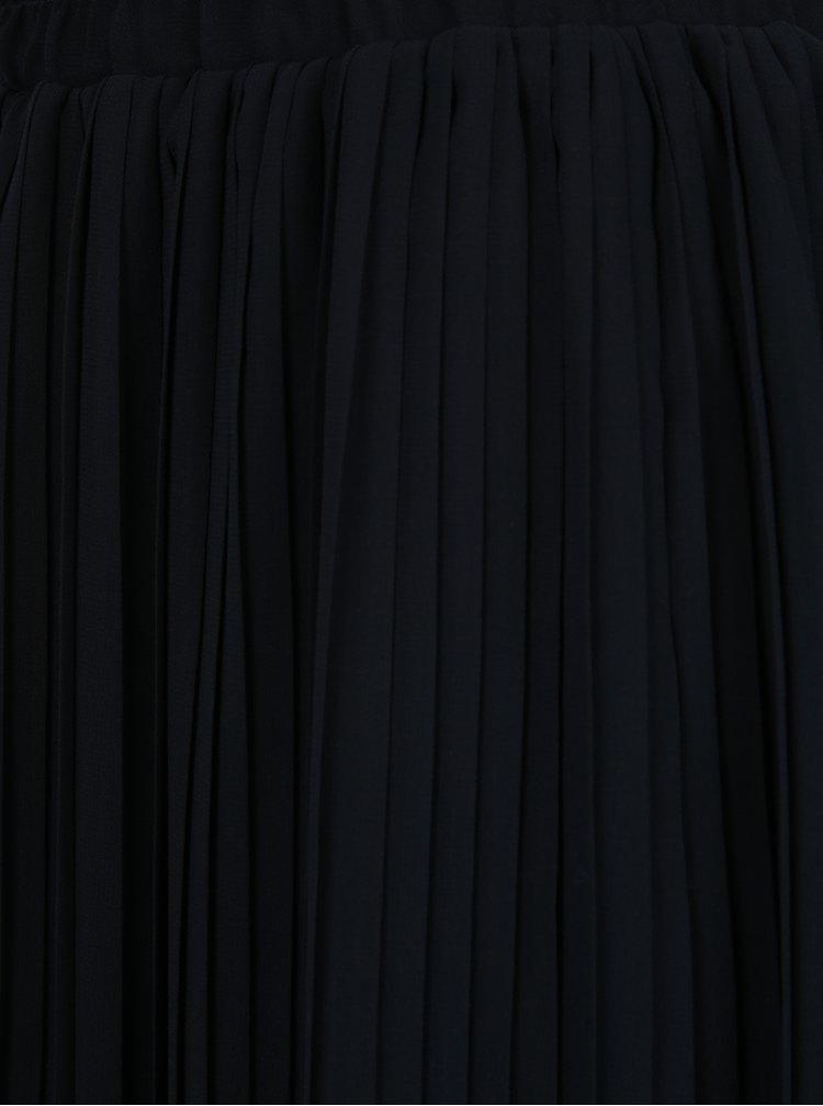 Fustă neagră midi plisată VERO MODA Pleta