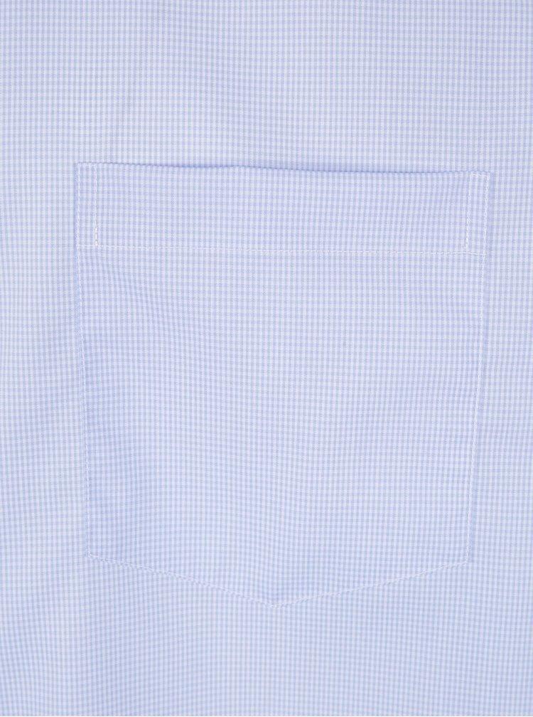 Světle modrá formální kostkovaná modern fit košile Seidensticker