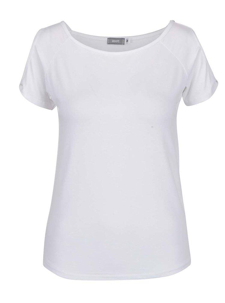 Tricou alb cu decupaj pe maneci ZOOT