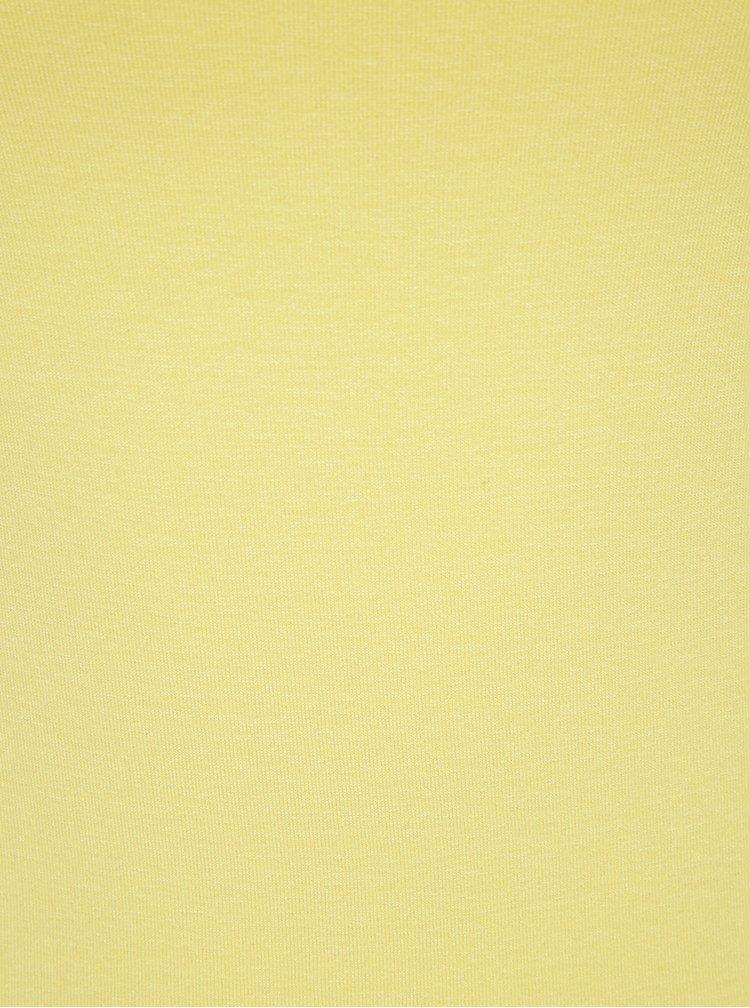 Top galben cu decolteu patrat ZOOT