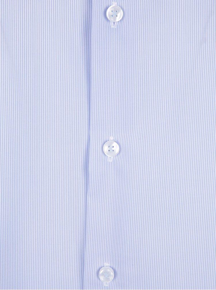 Světle modrá formální pruhovaná tailored fit košile Seidensticker